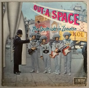 "The track is 'The Rocket Man' by the Spotnicks from Gothenburg, Sweden. The album was recorded in London on an unspecified date in 1962 between the hours of 2:30 in the afternoon and 7:30 the following morning. Thorough research on Wikipedia suggests that the tune is  'based on the Soviet/Russian folk march ""Polyushko-polye""'. 'The Rocket Man reached no. 38 in the UK charts."